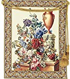Corona Decor Fleurs Jardin European Floral Tapestry Wall Hanging