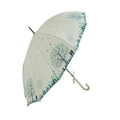 Guoke 12 Huesos De Mango Largo Paraguas Paraguas Paraguas Pequeños Árboles Personalizados Viento Fresco Hembra Sen