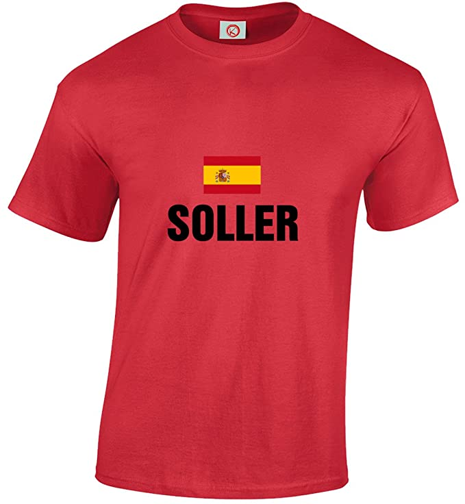 156bf9d2c T-shirt Soller Red  Amazon.co.uk  Clothing