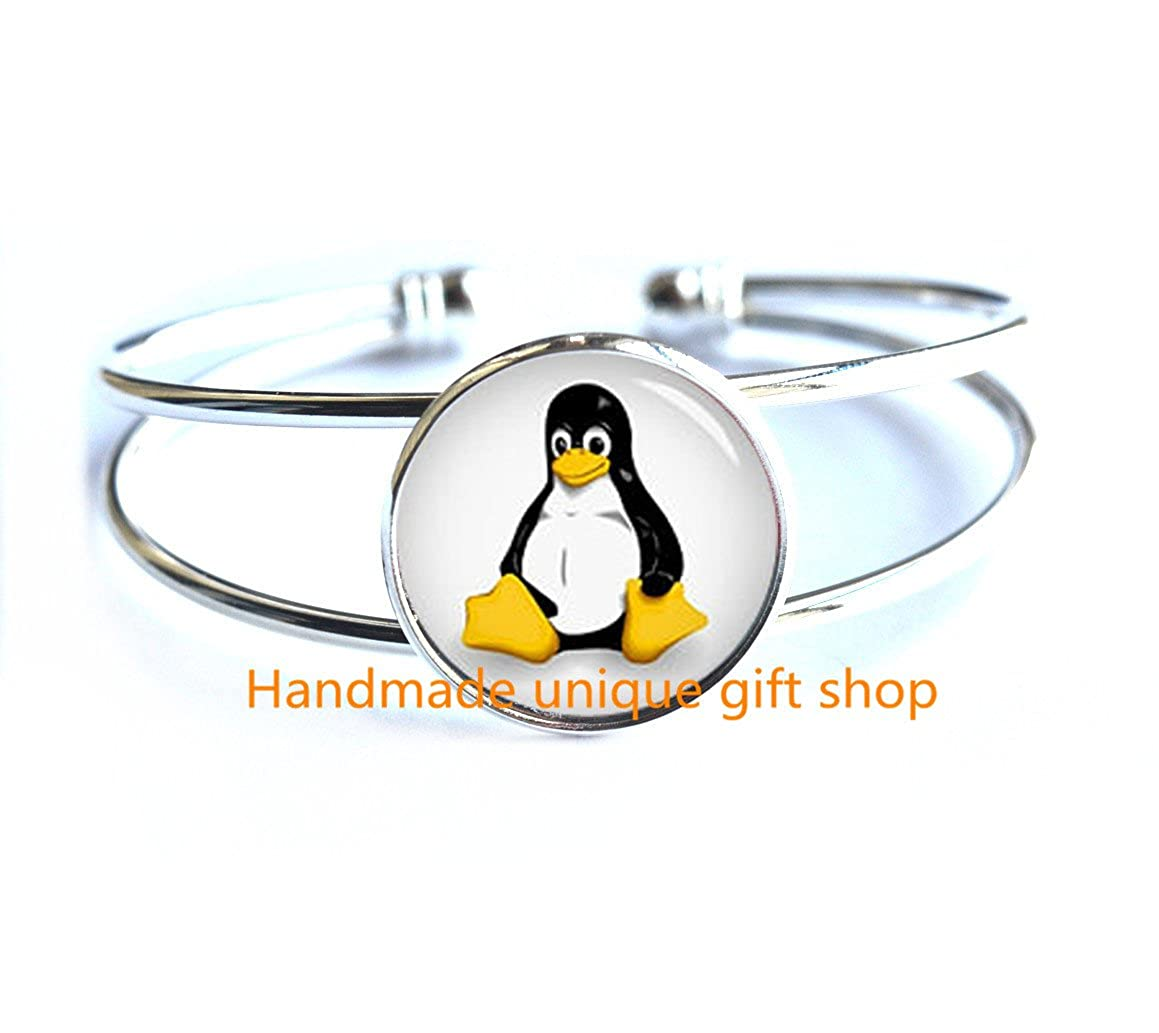 Bridesmaid jewelry Everyday Bracelet Gift Wedding Bracelet-RC321 Cute Penguin Bracelet Geometric Fashion Bracelet Charm Bracelet Animal Bracelet Dainty Bracelet