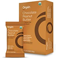Orgain Simple Organic Protein Bars, Chocolate Peanut Butter - Vegan, Plant Based, 6g Dietary Fiber, Dairy Free, Gluten Free, Soy Free, Lactose Free, Kosher, Non-GMO, 2.05 Ounce, 12 Count