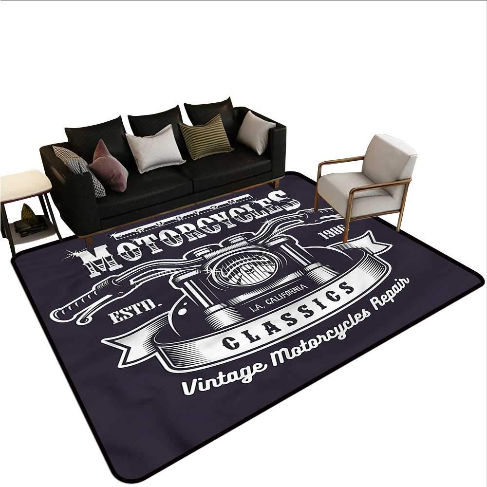 "B07SKCZB9J Man Cave,Kids Bedroom Mats Decorative 48""x 60"" Custom Motorbikes Classics Non Slip Absorbent Carpet 61W3CRnRyGL"