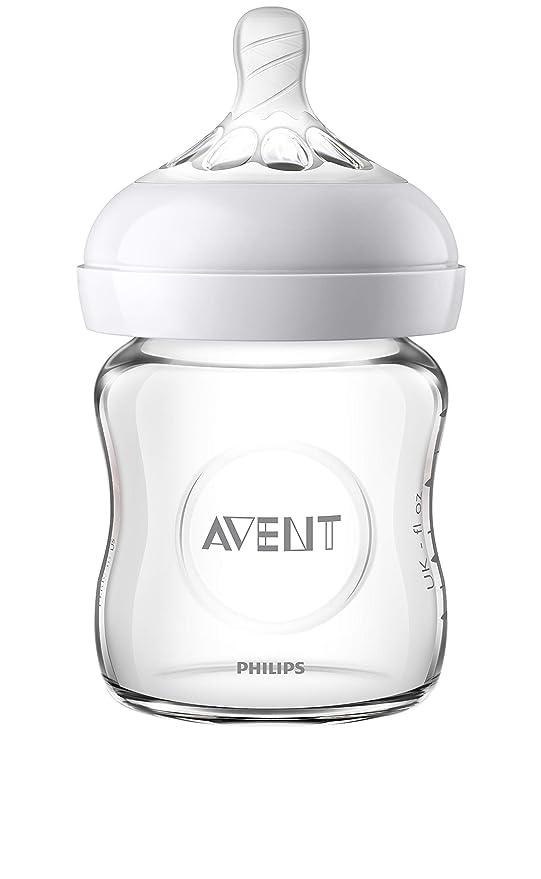 mantiene los l/íquidos calientes o fr/íos lavable a 40 /°C Funda para biber/ón de cristal 120 ml Philips Avent SCF675//01