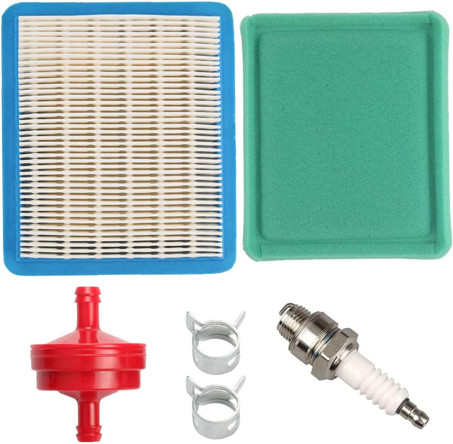 Amazon Com Wellsking 491588s Air Filter For Bs 491588 399959 625e 675ex 725ex 625 675 Series And Quantum 3 5 6 75 Gross Hp Push Mower With Spark Plug Garden Outdoor