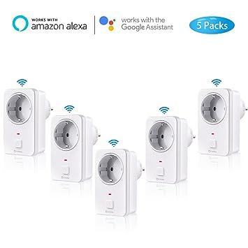 COOSA Enchufe Inteligente Inalámbrico WiFi, Enchufe del Repetidor Control Remoto para Teléfono Móvil, Controla
