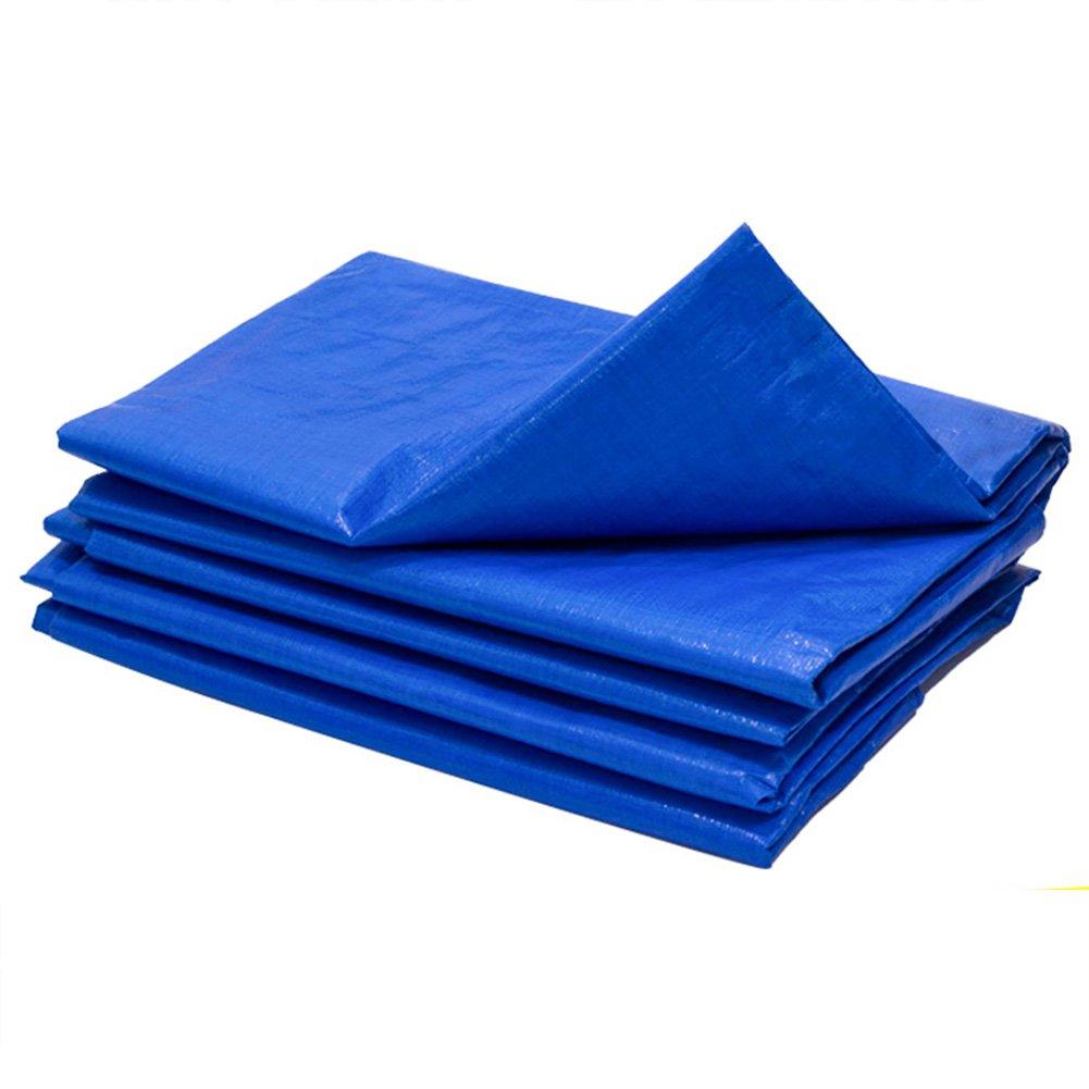HAIPENG Plane Gewebeplane Holzplane Abdeckplane Schutzplane Schatten, Mehrere Größen, 180G M² (Farbe   Blau+Orange, größe   4x4m)
