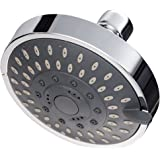 Hoobest 4-Inch Rainfall High Pressure Shower Head,Luxury Spa Fixed Showerhead,Adjustable Swivel Joint, 5 Spray Settings Fits Shower Arm Cylindrical Thread Outer Diameter 19 mm