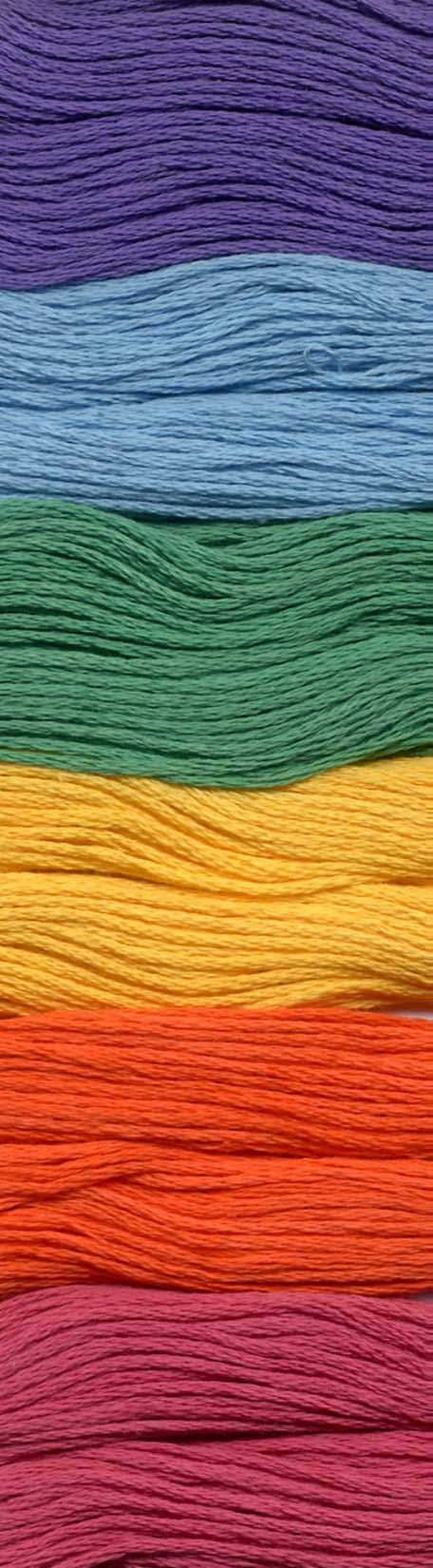 Pearl Cotton Size 8 Thread Sampler Pack Mardi Gras