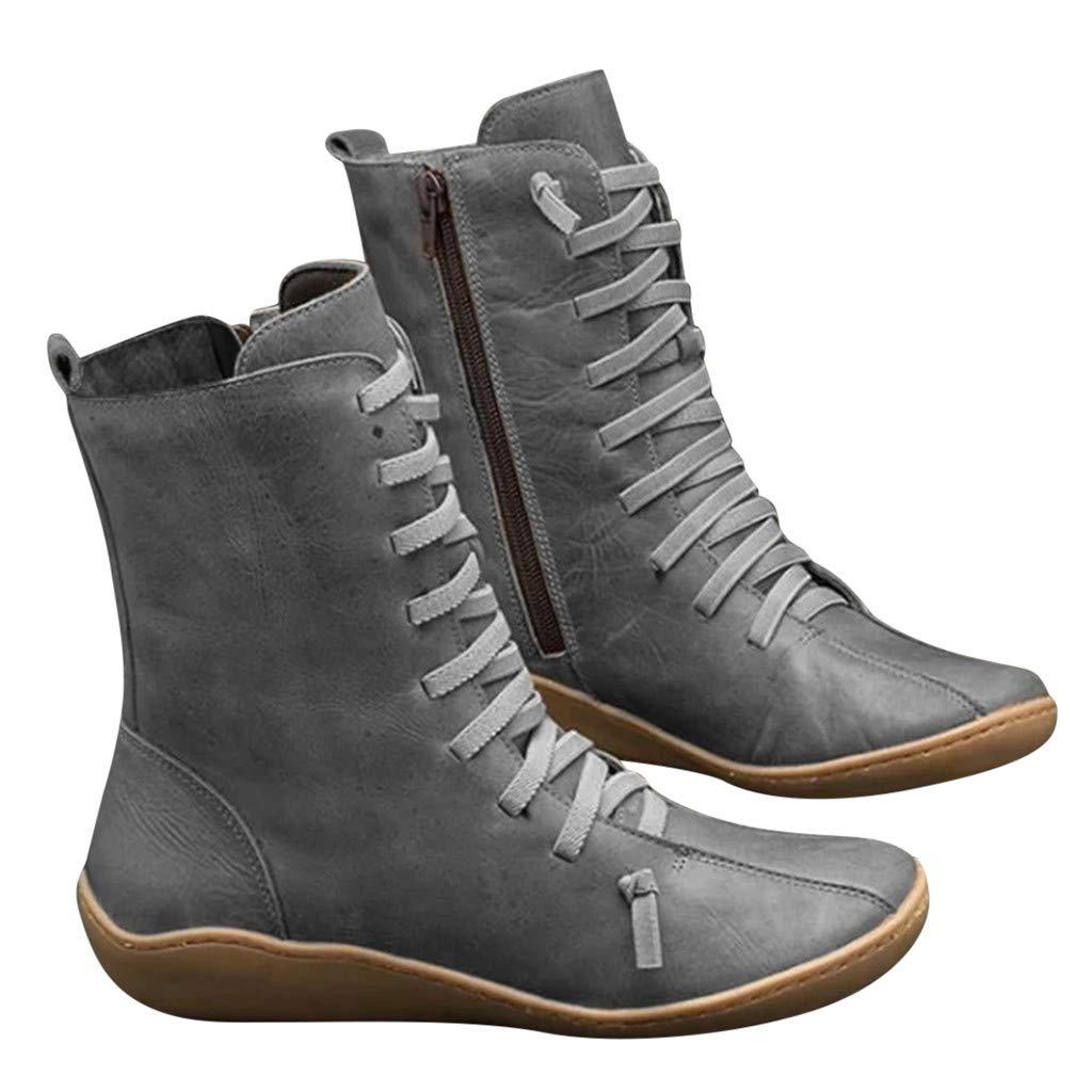 Scenxion-Shoes - Botas para Mujer Gris Gris 32 ES: Amazon.es: Ropa ...