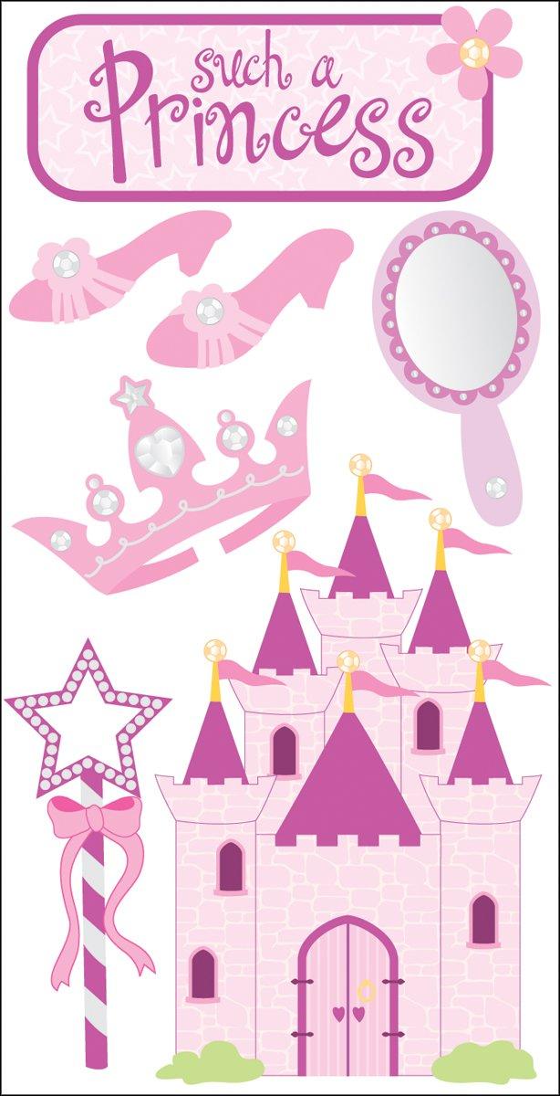 Essentials dimensions Stickers 2.75 'X6.75 feuille-Princesse