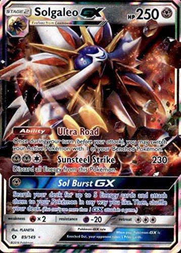 POKEMON, SUN&MOON, SOLGALEO GX 89/149, MINT, NEW (Best Cards From Pokemon Sun And Moon)