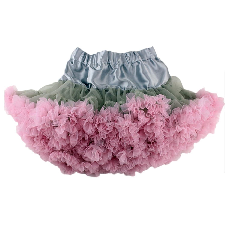 OHmais Enfant Fille Princesse Jupe tutu en dentelle demi-jupe en tulle Jupons multicouche de Mariage Soirée Anniversaire Cérémonie