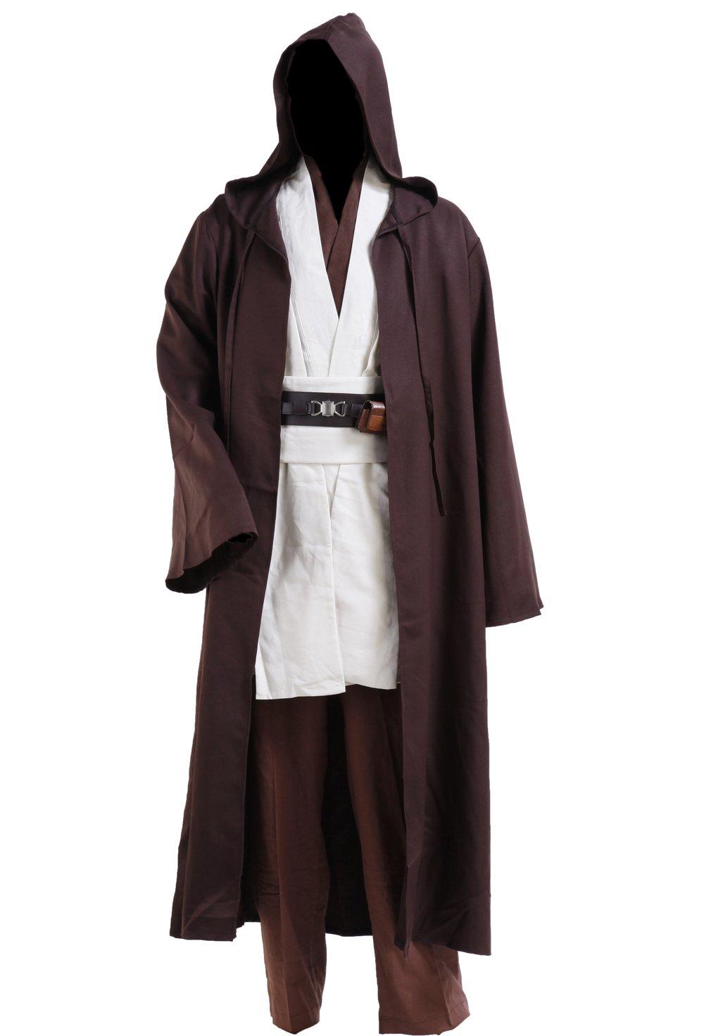 Fashion Costumes Men's Star Wars Jedi Robe Costume -Brown with White Version
