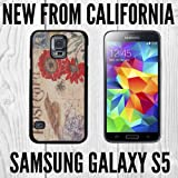Antique Postcard Custom made Case/Cover/skin FOR Samsung Galaxy S5 - Black - Plastic Snap Case ( Ship From CA)
