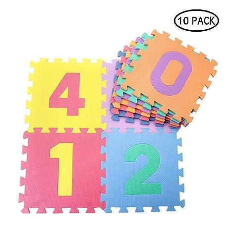10 Piezas Alfombra puzle para Niños bebe infantil,UMIWE ...