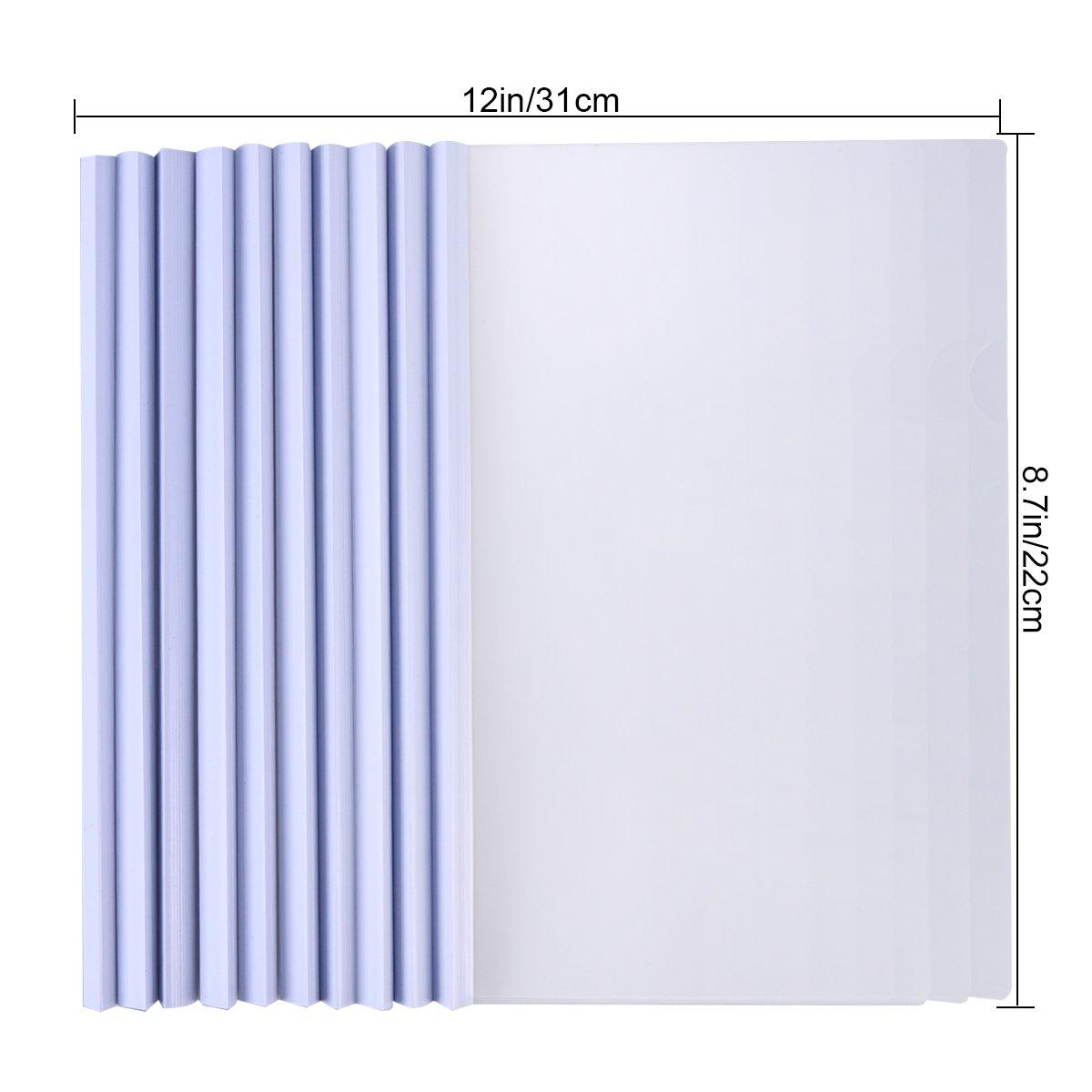 pezzi Toymytoy relazione coperture di plastica trasparente con scorrevole bar cartella di presentazione per carta formato A4