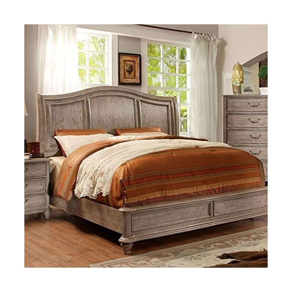 Carefree Home Furnishings Belgrade II Transitional Style Rustic Natural Tone Finish Cal.King Size 6-Piece Bedroom Set