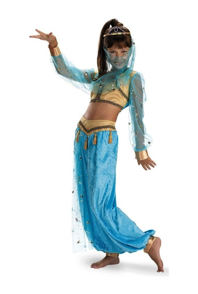 amazoncom mystical genie child costume medium toys games - Blue Halloween Dress