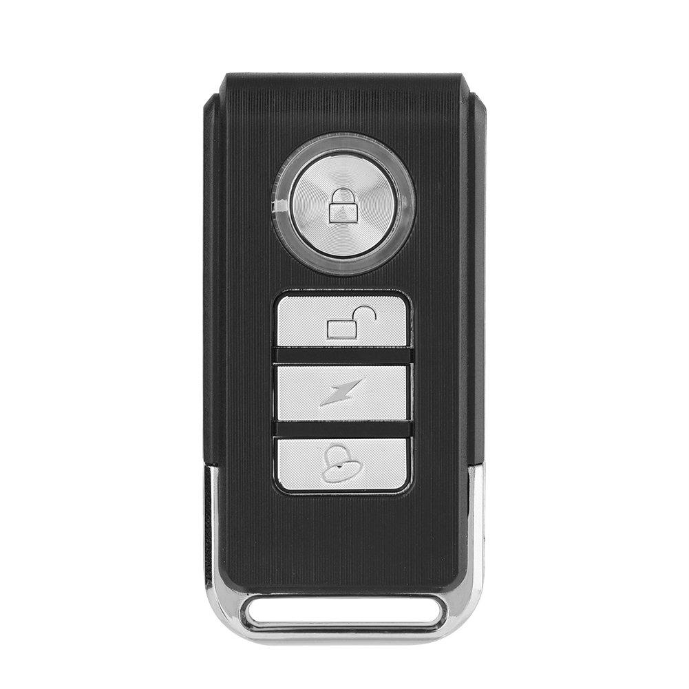 Lazmin Alarma de Bicicleta remota inal/ámbrica 113db Impermeable Alarma antirrobo Fuerte de Bicicleta Sensibilidad Ajustable Triciclo el/éctrico//Alarma de Seguridad de Puerta//Ventana