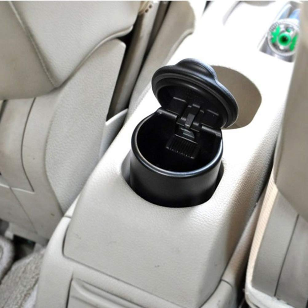 YMXLJJ Car Ashtray Portable Travel Ashtray Cigarette Holder Matte Surface High Temperature with LED Light Ashtray Anti-Skid Anti-Vibration Easy to Clean by YMXLJJ (Image #5)