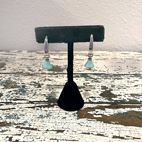 Bell Turquoise Hand-hammered Sterling Silver Handmade Earrings - Bell Sterling Silver Turquoise Ring