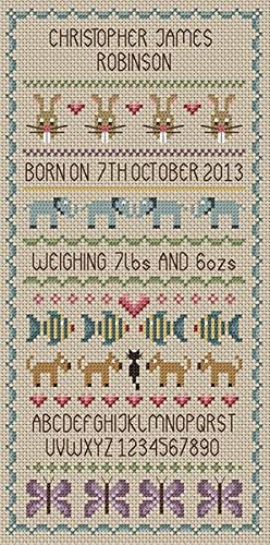 Little Dove Designs Newborn Baby Boy Counted Cross Stitch Kit 14 Count