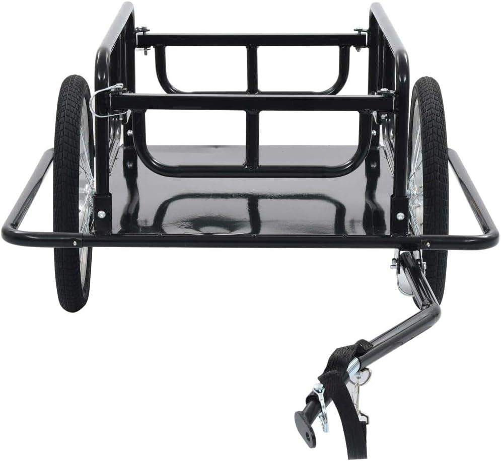 WooDlan Bike Cargo Trailer Bicycle Trailer Bike Cart Black
