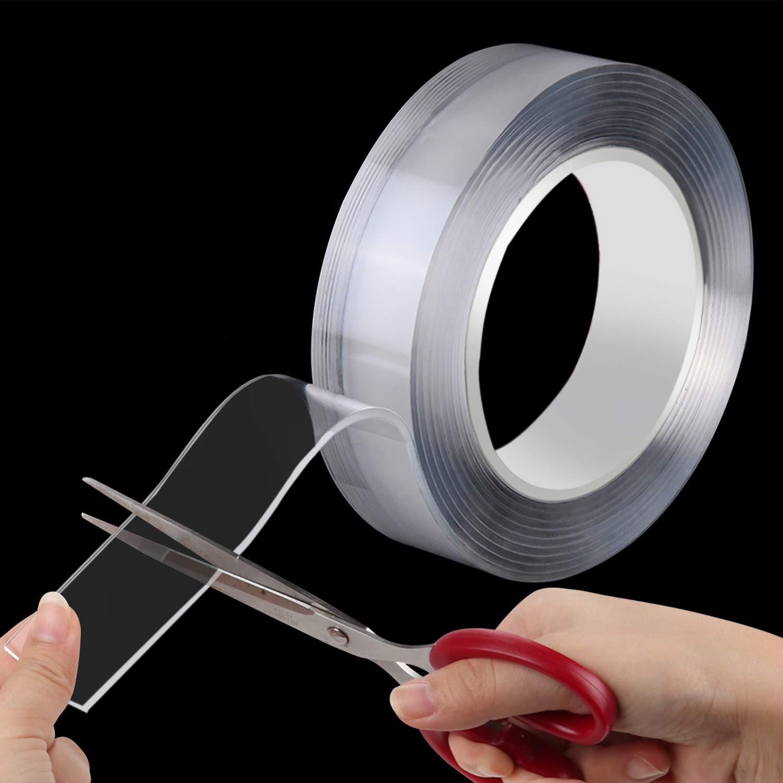 resistente ai raggi UV riutilizzabile gomma adesiva Oladwolf nastro biadesivo 3m extra forte nastro adesivo impermeabile alte temperature -20-100/°C nano tape trasparente e senza tracce