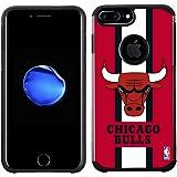 NBA Chicago Bulls - Licensed Team Color Texture Case with Center Stripe Design for iPhone 8 Plus / 7 Plus / 6s Plus / 6 Plus