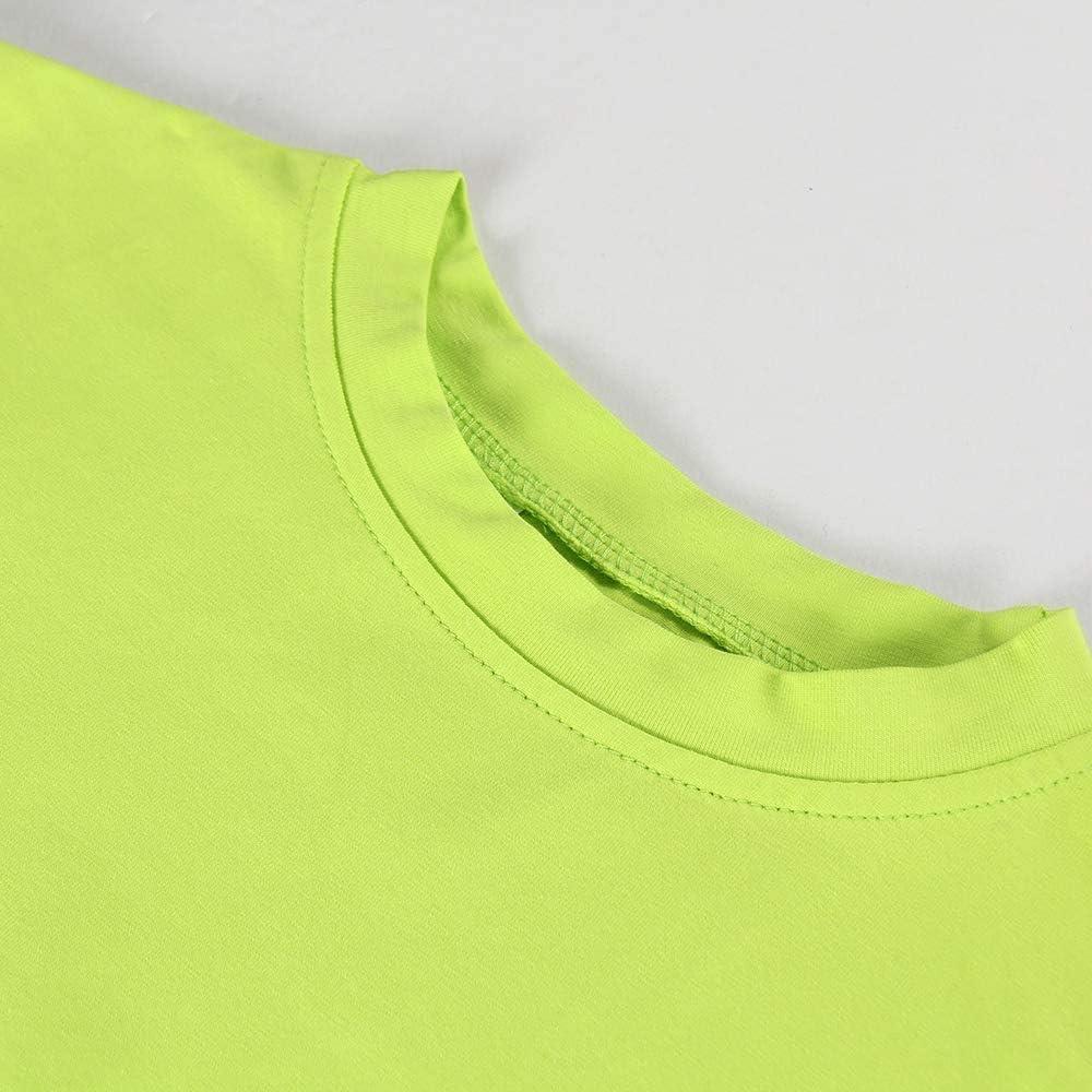al neon a maniche lunghe Artfish aderente sexy Maglietta da donna elasticizzata