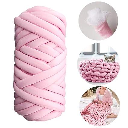 latest design best online huge inventory Pelote Tricoter à la Main Fil Grosse Rond Tissu Remplissage Douce  Confortable, Maille de Tricotage Crochet en Coton Elastique pour DIY ...