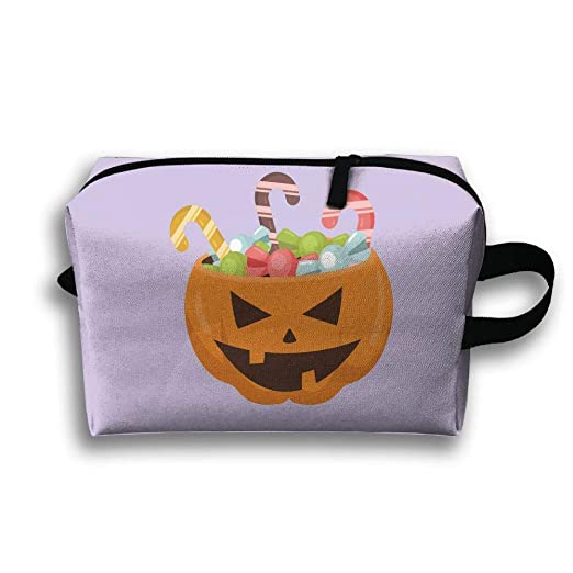Storage Bag Travel Pouch Pumpkin Candy Purse Organizer Power Bank Data Wire Cosmetic Stationery Holder
