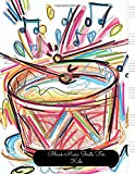 Blank Music Sheets For Kids: Drums Large, Empty Staff, Manuscript Sheets Notation Paper For Composing For Musicians, Students, Songwriting. Book Notebook Journal 100 Pages 8.5x11