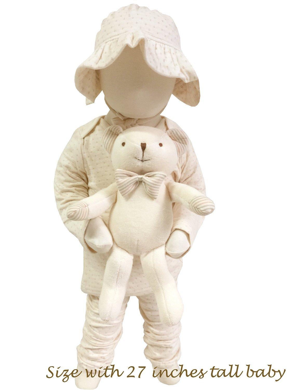 Organic Cotton Baby Pillow Newborn Prevent Flat Head Syndrome Baby Pink Cheek Monkey JOHN N TREE Organic