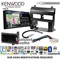 Volunteer Audio Kenwood DNX874S Double Din Radio Install Kit with GPS Navigation Apple CarPlay Android Auto Fits 1988-1994 Blazer, Silverado, Suburban