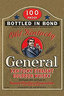 Buyenlarge 'General Kentucky Straight Burbon Whiskey' Paper Poster, 20 by 30-Inch