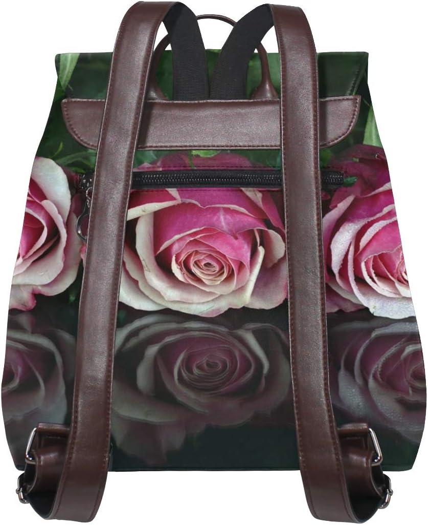 Backpack Shopping Bag School Bag Travel Bag Storage Bag For Men Women Girls Boys Personalized Pattern Three Roses