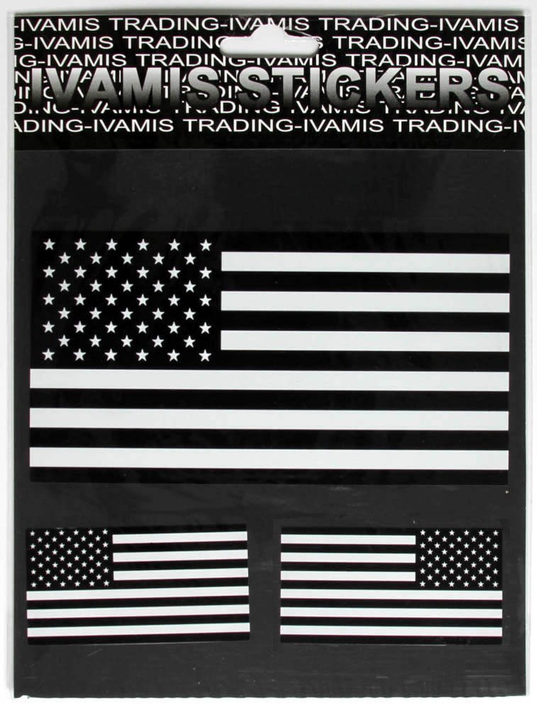 Amazoncom Black White US Flag Stickers Automotive - Motorcycle helmet decals militarysubdued american flag sticker military tactical usa helmet decal