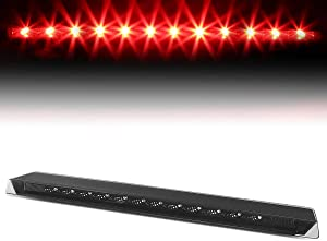 Smoked Housing Trunk Center Mount LED 3rd Third Tail Brake Light Lamp Replacement for Ford Mustang 99-04