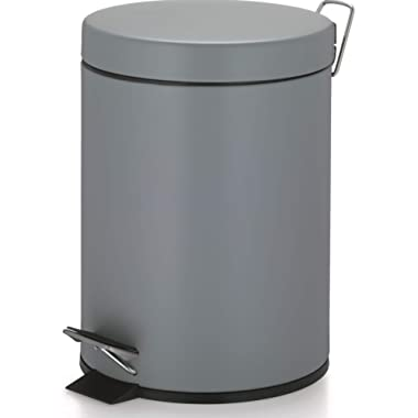 Kela Step Trash Can with Lid Phil Collection, Light Grey