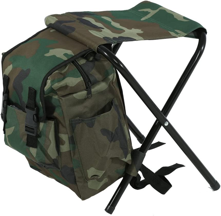 Alomejor Chaise Pliante Tabouret Pliant Sac à Dos Imperméable Ultralight Portable Chaise Pliante pour la pêche, Sport, randonnée, Plage Barbecue en