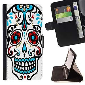 King Case - FOR LG OPTIMUS L90 - not be afraid - Prima caja de la PU billetera de cuero con ranuras para tarjetas, efectivo Compartimiento desmontable y correa para la mu?eca