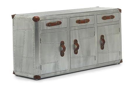 La Credenza Uk : Furniturestop.co.uk aviator credenza 3 anta in alluminio acciaio