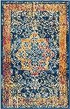Cheap Well Woven Cora Floral Medallion Vintage Blue Area Rug 20×31 (20″ x 31″ Mat) Soft Plush Modern Oriental Carpet