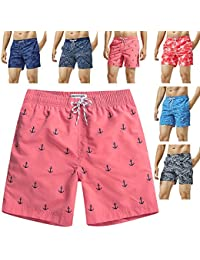 bb66d1da90 Mens Swim Trunks Quick Dry Funny Shorts with Mesh Lining Swimwear Bathing  Suits
