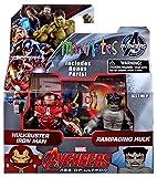 Marvel Avengers Age of Ultron Minimates Series 63 Hulkbuster Iron Man & Rampaging Hulk 2' Minifigure 2-Pack