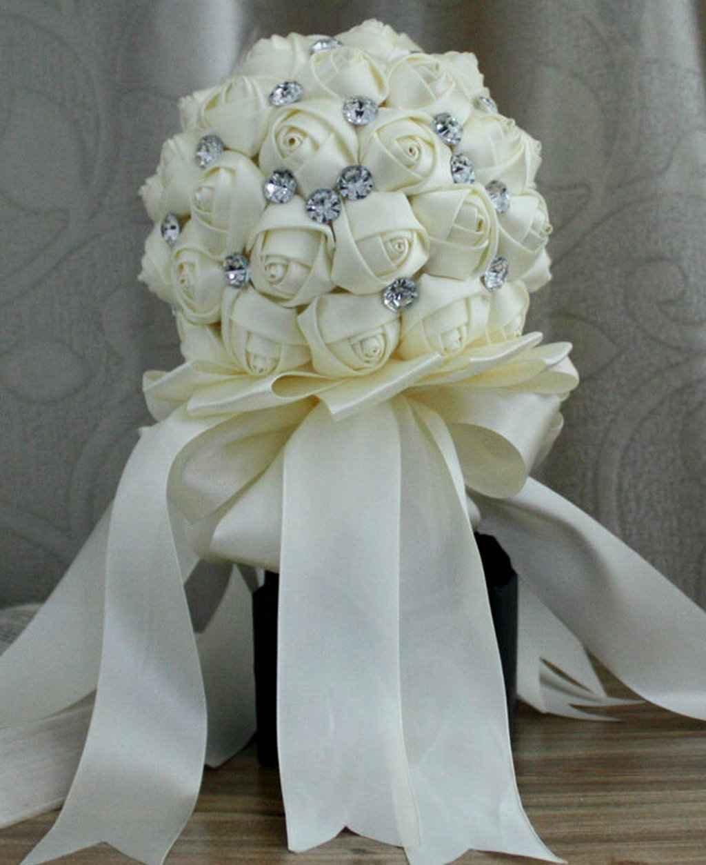 Amazon.com: Wedding Bouquet ,Bride Holding Flowers,Bridesmaid ...