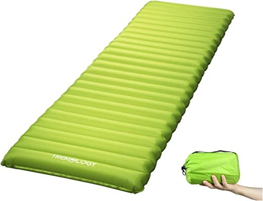 TREKOLOGY Inflatable Sleeping Pad, Camping Mats for Sleeping - w/Air Pump Dry Sack Bag - Compact Lightweight Camp Mat, Ultralight Comfortable ...