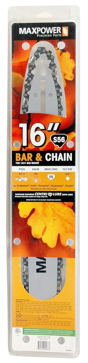 Maxpower 336550N 16 Inch Bar & Chain Combo For Craftsman, Echo, Homelite, Poulan & Other 16 Inch Saws