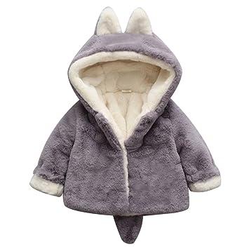 1 X Kinder Mädchen Winter Mantel Fleece Jacke Mantel Schneeanzug Oberbekleidung